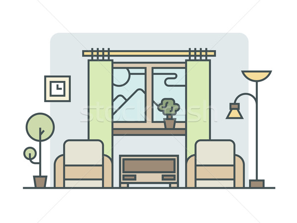 Living room linear style Stock photo © jossdiim
