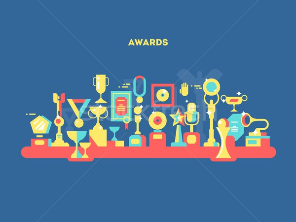 Awards set design flat Stock photo © jossdiim