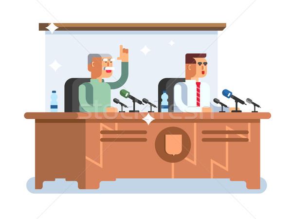 Konferencia terv megbeszélés bemutató előadás szoba Stock fotó © jossdiim