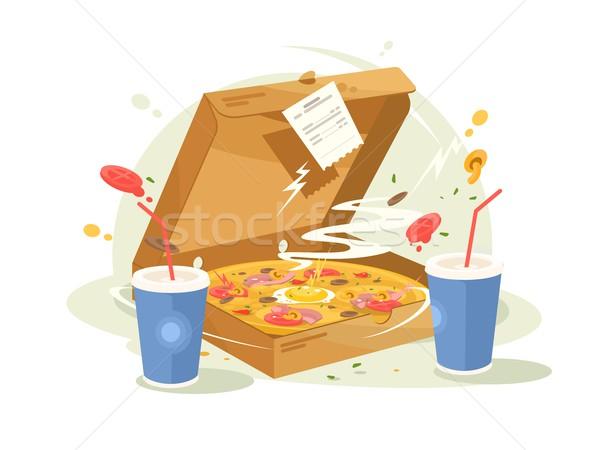 Pizza fast food Stock photo © jossdiim