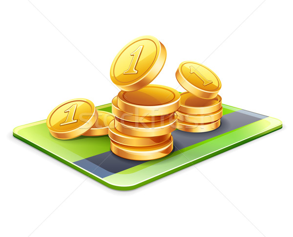 Credit card with coins  Stock photo © jossdiim