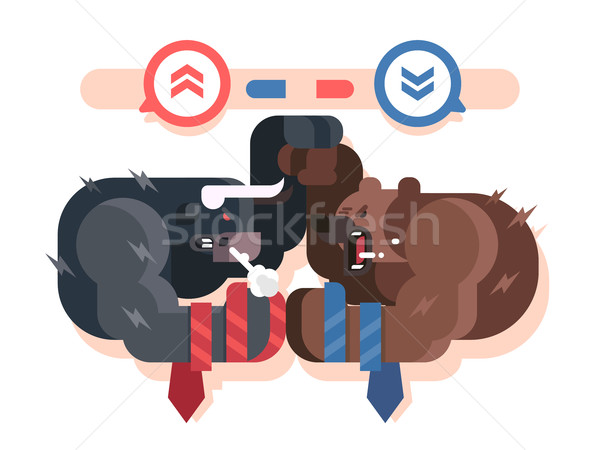 Bulls and bears fight Stock photo © jossdiim