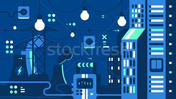 City electricity supply Stock photo © jossdiim