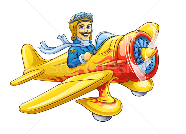 Cartoon plane with pilot  Stock photo © jossdiim