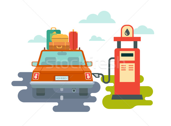 Refuel Car at Gas Station Stock photo © jossdiim