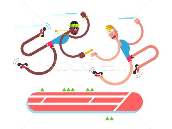 Atlétika terv verseny futó tevékenység futás Stock fotó © jossdiim
