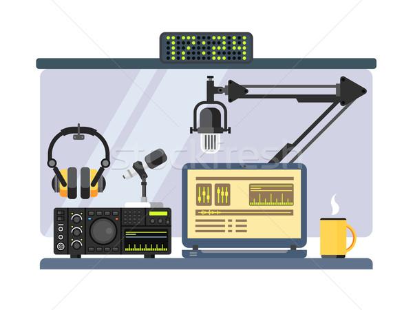 профессиональных радио станция студию микрофона другой Сток-фото © jossdiim