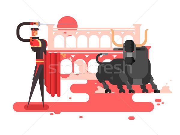 Bullfighting charcter man Stock photo © jossdiim