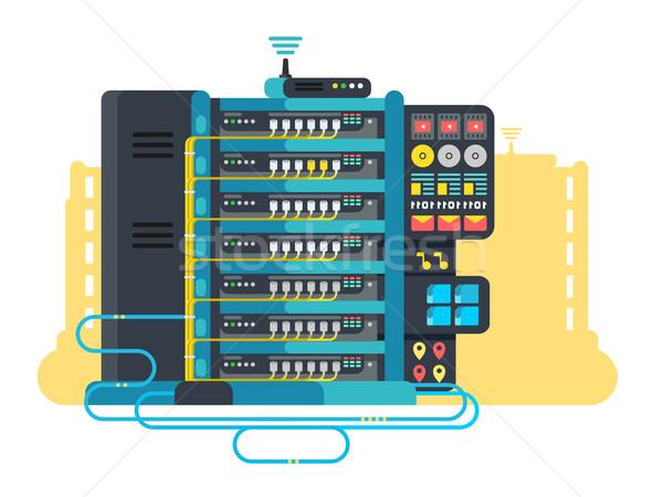 Serwera data center projektu Internetu sieci technologii Zdjęcia stock © jossdiim