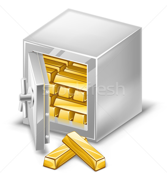 Opened safe with gold ingots Stock photo © jossdiim