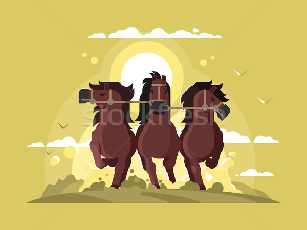 Three horses running Stock photo © jossdiim