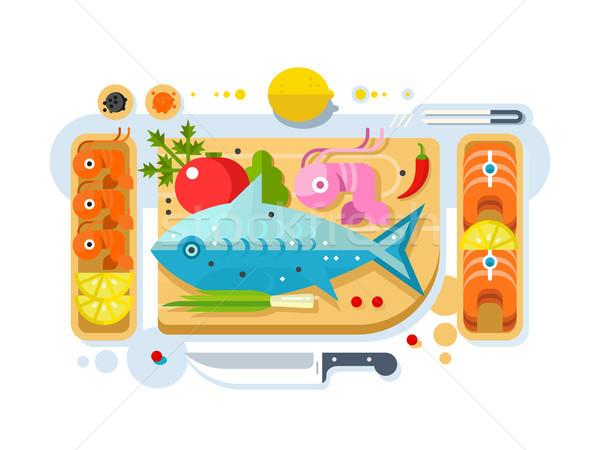 Mare alimentare pesce prodotto salmone pezzo Foto d'archivio © jossdiim