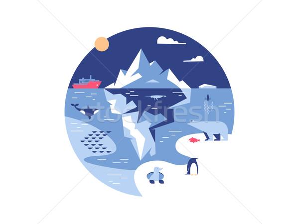 Iceberg in sea or ocean Stock photo © jossdiim