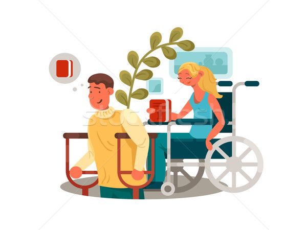 Persons with disabilities Stock photo © jossdiim