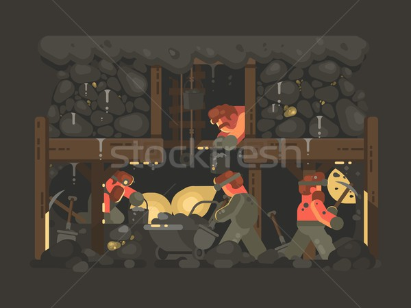 Mine for gold mining Stock photo © jossdiim