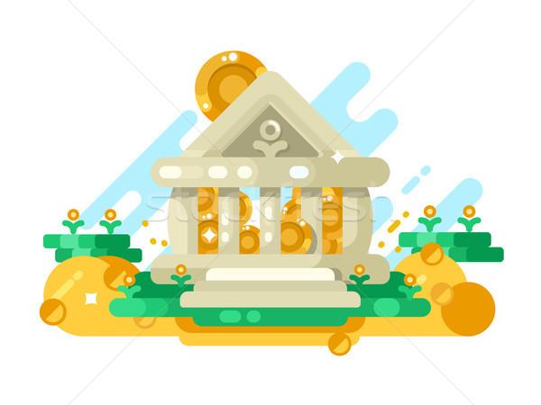 銀行 抽象的な 建物 コイン ストレージ ストックフォト © jossdiim