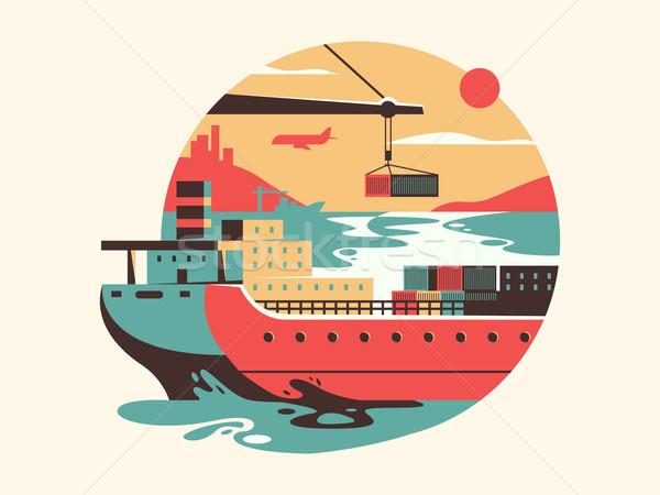 Maritime transport logistics Stock photo © jossdiim