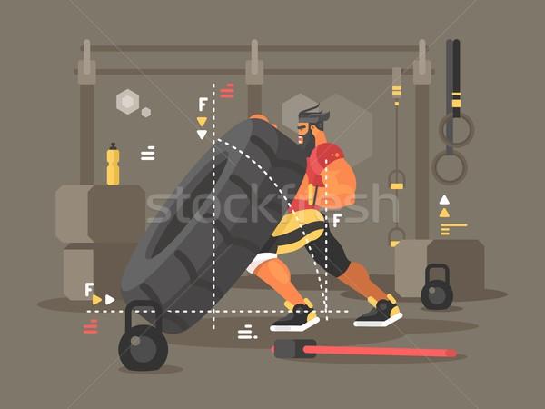Crossfit training sterke macht man sport Stockfoto © jossdiim