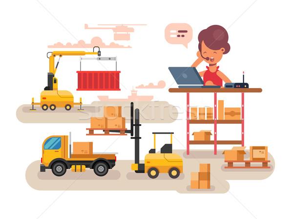 Warehouse logistics concept design Stock photo © jossdiim