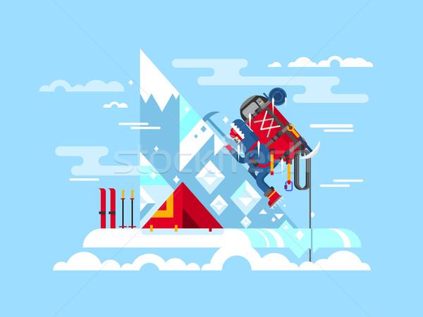 山 冒険 登山 挑戦 勇気 ストックフォト © jossdiim