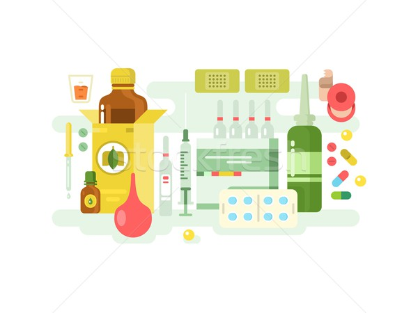 Médico drogas projeto medicina saúde farmácia Foto stock © jossdiim