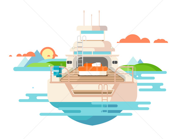 Yacht flat design Stock photo © jossdiim