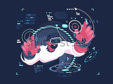 Vuelo máquina futuro fresco petimetre espacio Foto stock © jossdiim