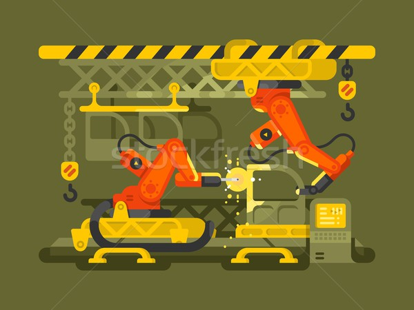 Automatic production using robotics Stock photo © jossdiim