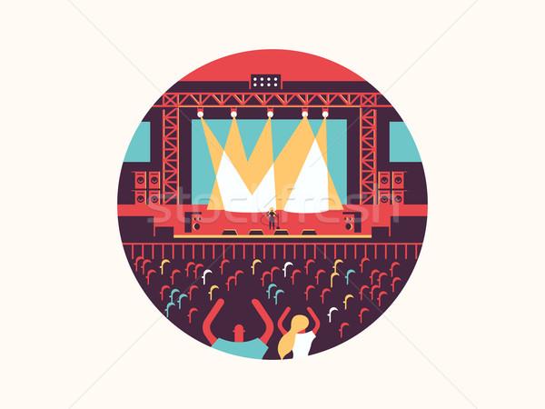 コンサート デザイン ロック音楽 祭り を見る パーティ ストックフォト © jossdiim