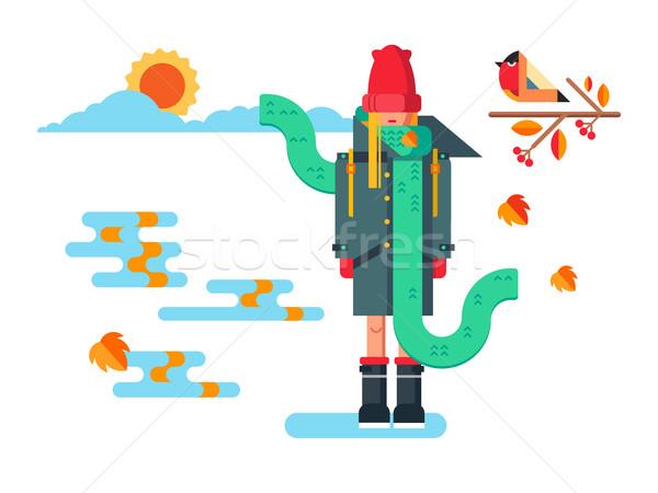 Girl in coat Stock photo © jossdiim