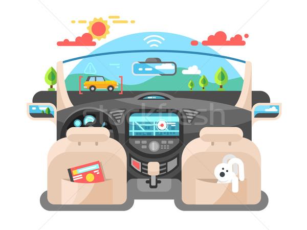 Car autopilot computer system Stock photo © jossdiim