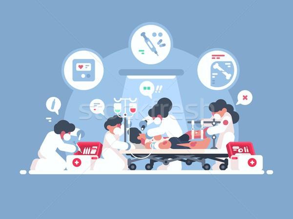 緊急 応急処置 グループ 医師 人 生活 ストックフォト © jossdiim