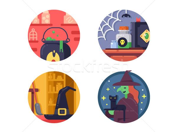 Halloween icons set Stock photo © jossdiim