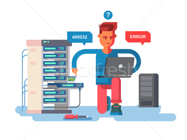 специалист сеть технологий компьютер информации электронных Сток-фото © jossdiim