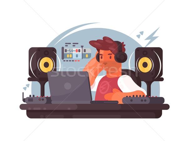 Sound designer on workplace Stock photo © jossdiim