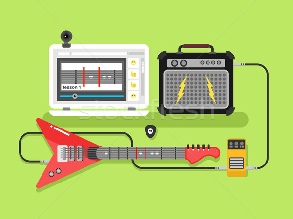 Learning guitar online Stock photo © jossdiim