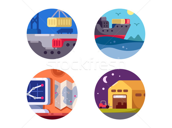 Maritime logistics and transportation Stock photo © jossdiim