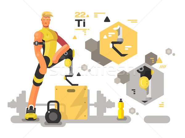 Prostheses for sport and fitness Stock photo © jossdiim