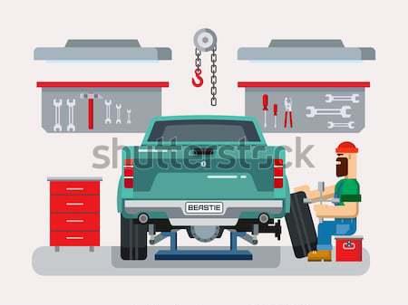 Suspensão carro projeto automático reparar serviço Foto stock © jossdiim