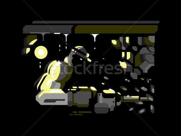 Miner character design flat Stock photo © jossdiim