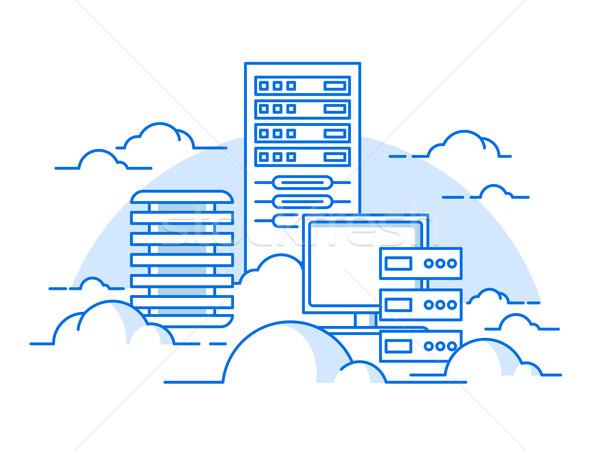 Chmura usługi bazy danych Internetu komputera komunikacji Zdjęcia stock © jossdiim