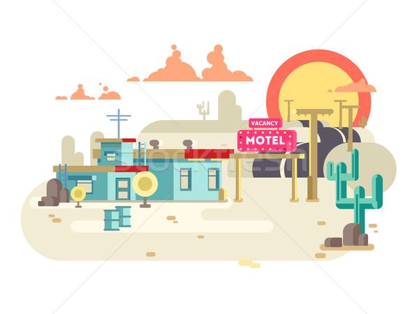 Motel ontwerp hotel gebouw architectuur business Stockfoto © jossdiim