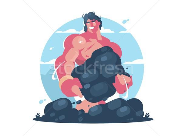Mitológico forte muscular cara vetor Foto stock © jossdiim