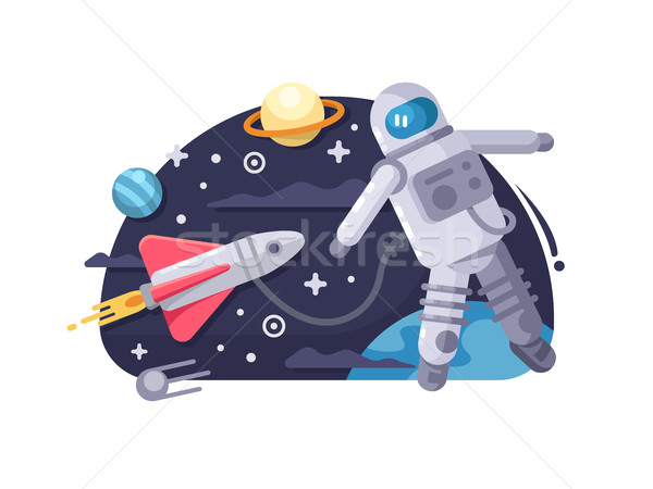 Astronaut in outer space Stock photo © jossdiim