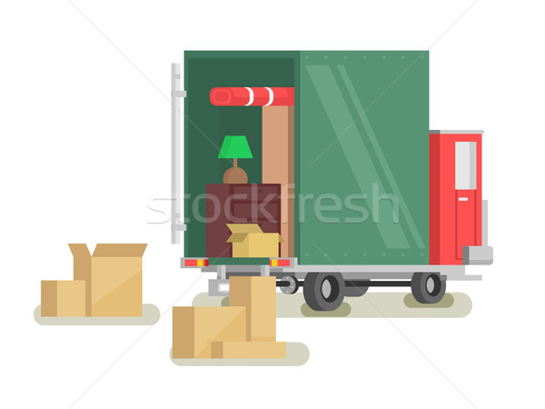 Stock photo: Moving furniture loading