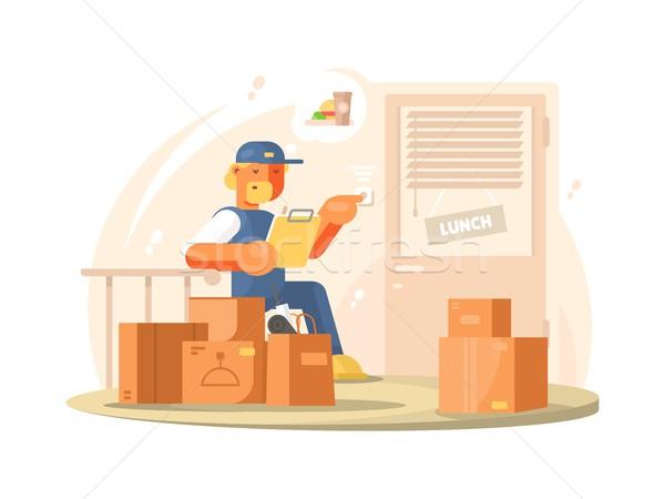 Uniformed deliveryman character Stock photo © jossdiim