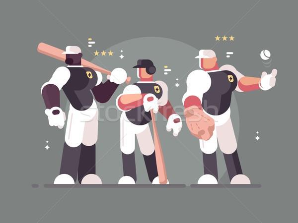 Béisbol equipo jugadores deportes forma fondo Foto stock © jossdiim