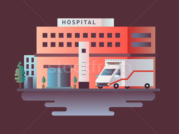 Hospital building design flat Stock photo © jossdiim