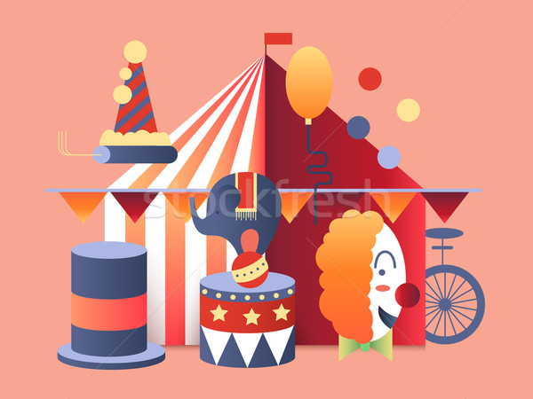 Circus tent design Stock photo © jossdiim