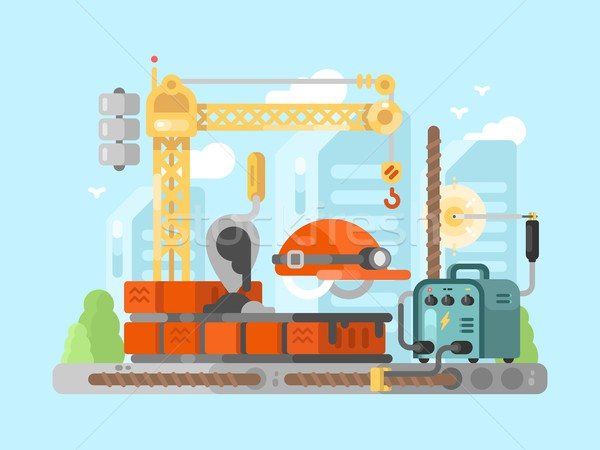 Construction site design concept Stock photo © jossdiim